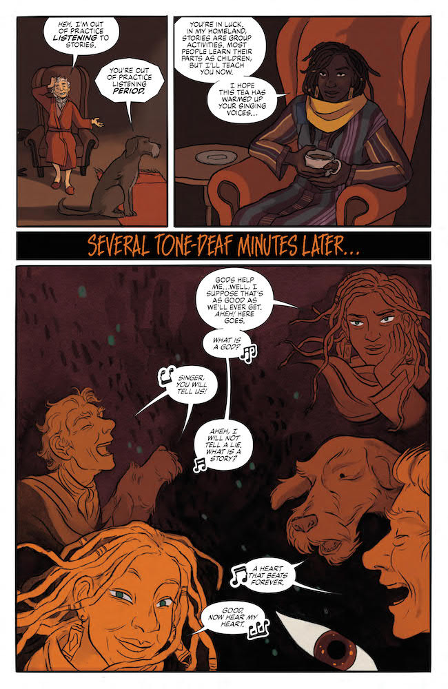 The Storyteller and his dog sing along with a story Jim Henson's The Storyteller: Trickers #2