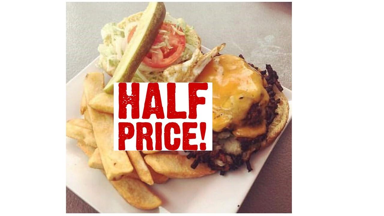 Half Price Burger