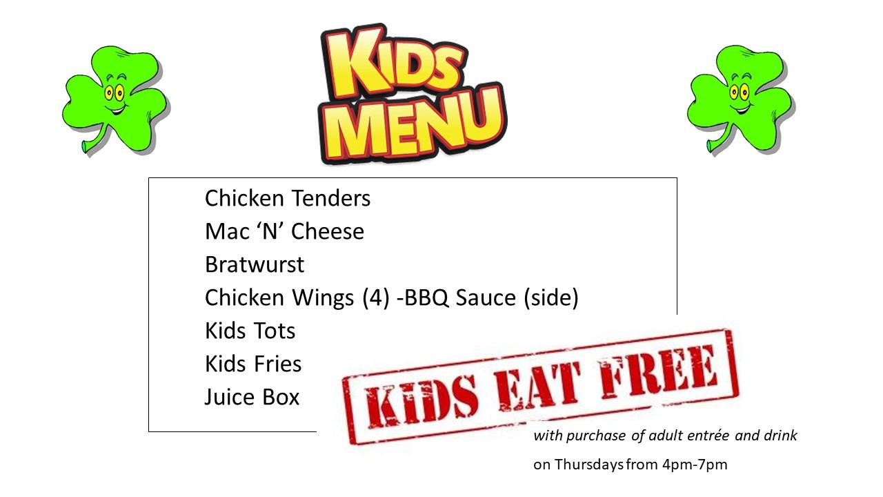 Kids Eat Free – Duffy's Irish Pub | Washington, DC 20002
