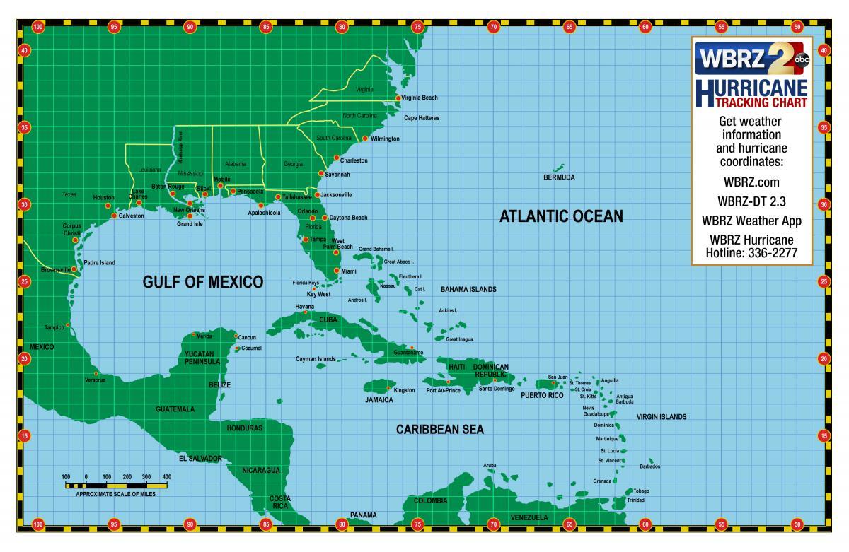 Gargantuan Printable Hurricane Tracking Maps