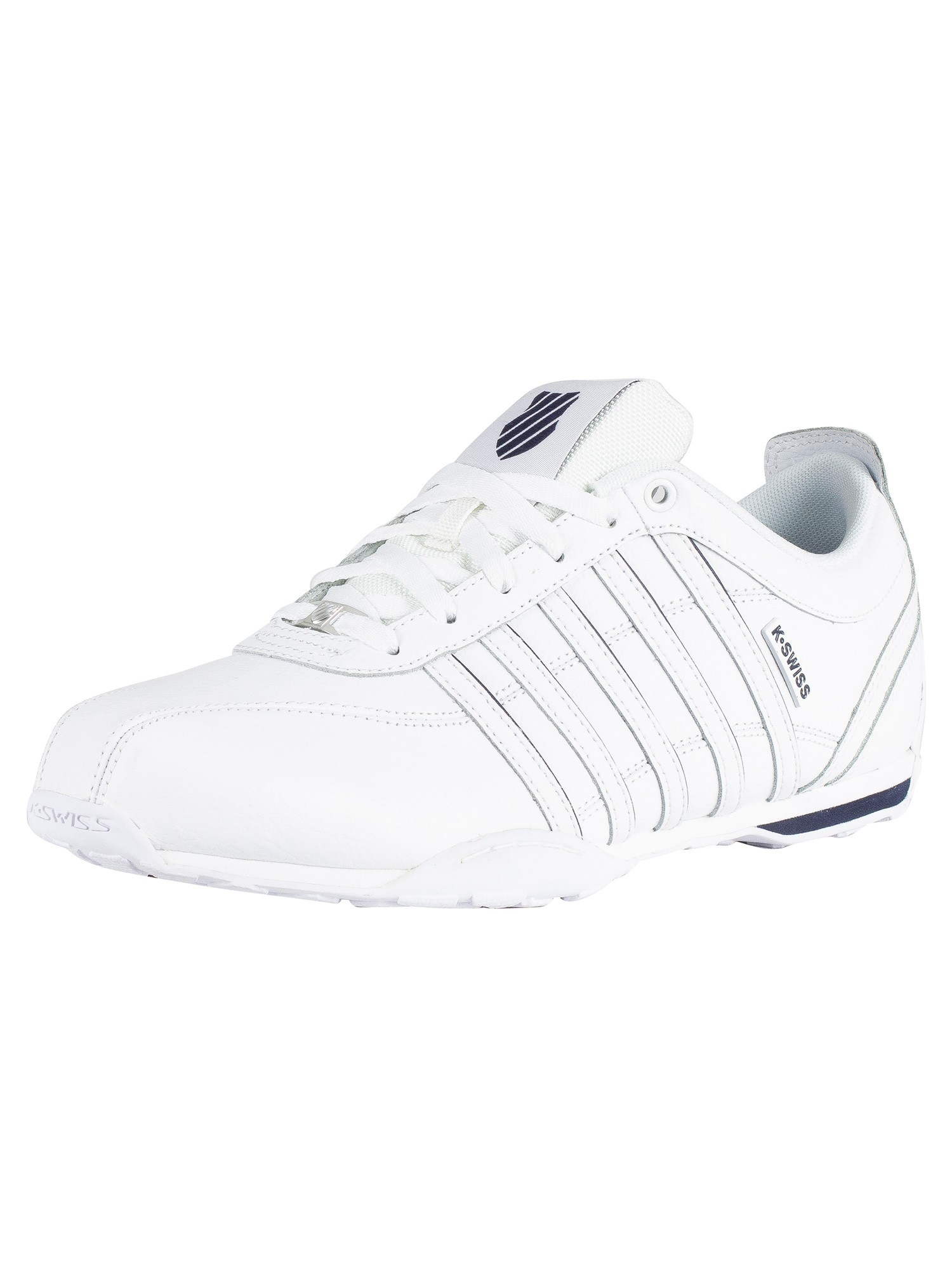 K Swiss White Navy Silver Arvee 1 5 Leather Trainers