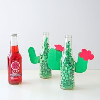DIY Cactus Centerpiece with IZZE