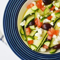 Greek Marinated Zucchini Salad