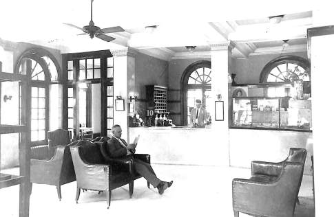 The lobby of The Hotel McFall circa 1928.