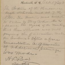 Letter relating to the school from H. L. Law