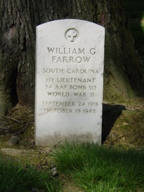 Farrow, William G. SC 1st Lieutenant