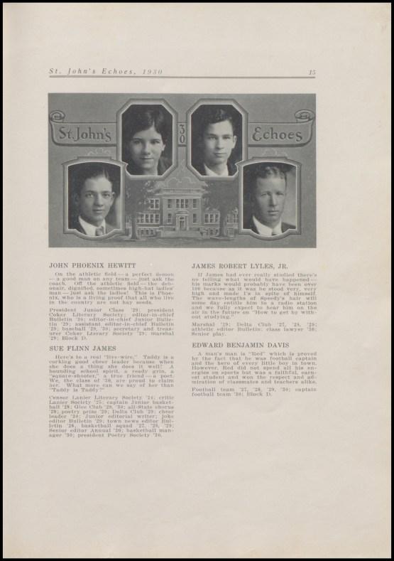 Sue Flinn James, 1930