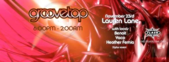 Groovetop ft Lauren Lane at Flash