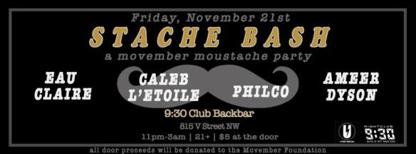 Stashe Bash: A Movember Moustache Party at Backbar