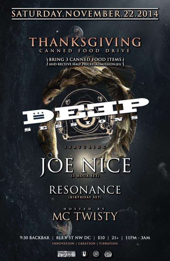 Deep Sessions presents Joe Nice, Resonance, MC Twisty at Backbar