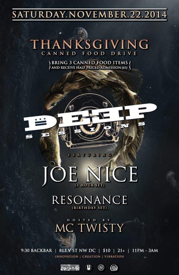 Deep Sessions presents Joe Nice, Resonance, MC Twisty at Backbar