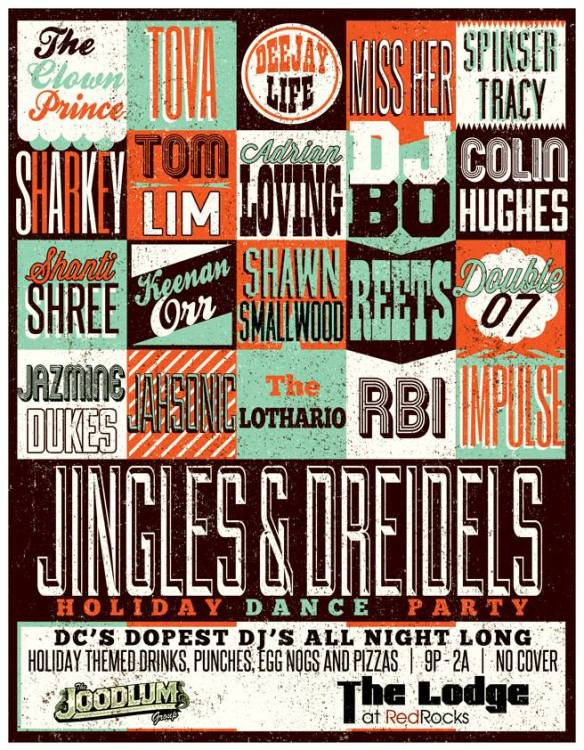 Jingles & Dreidels Holiday Dance Party w/Everyone at The Lodge at Red Rocks