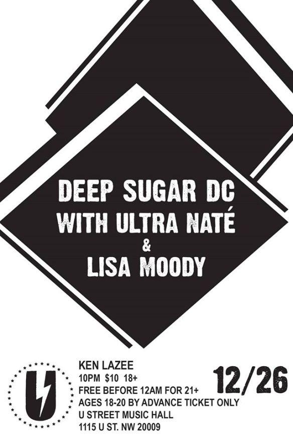 Deep Sugar DC with Ultra Naté, Lisa Moody & Ken Lazee at U Street Music Hall