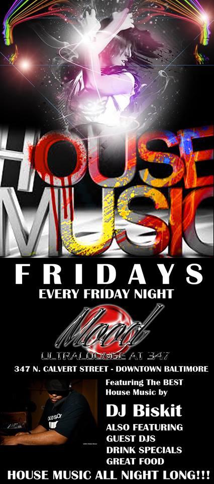 House Music Fridays @ Presents The Handzon Radio Party at Club 347, Baltimore