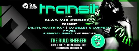Transit- GLAS Mix Project and The Spacies - LIVE! at The Auld Shebeen, Fairfax