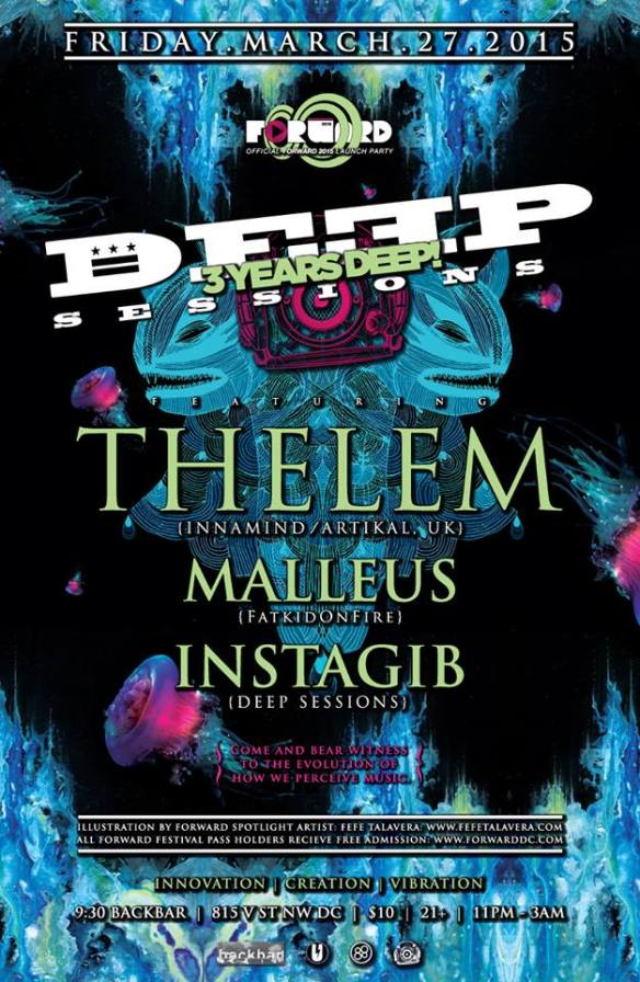 Deep Sessions 3 Year Anniversay with Thelem (UK), Malleus, Instagib at Backbar