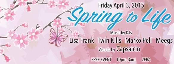 Spring To Life - Lisa Frank, Marko Peli, Twin Kllls & meegs - Cherry Snatch Edition at Zeba Bar