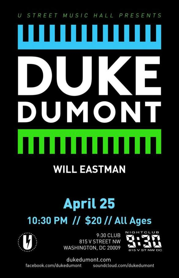 Duke Dumont with Will Eastman at 9:30 Club