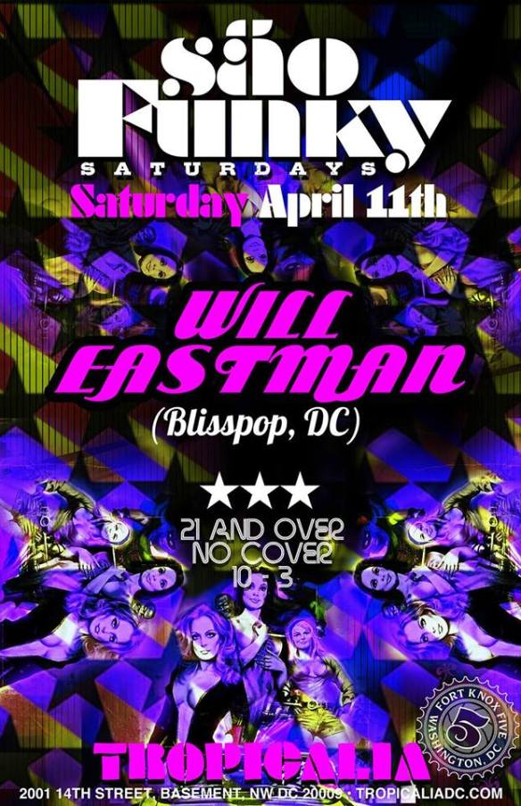 Sao Funky Saturday with Will Eastman & Caleb L'Etoile at Tropicalia