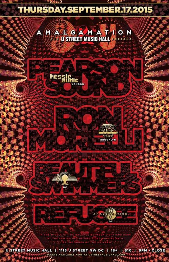 U Street Music Hall & Amalgamation present Pearson Sound & Ron Morelli with Beautiful Swimmers, Refugee at U Street Music Hall