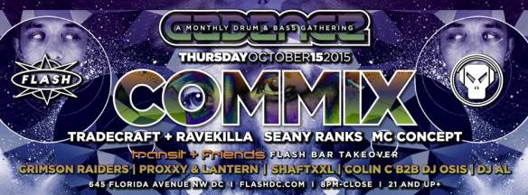 Cadence presents COMMIX at Flash with Transit & Friends in the Flash Bar
