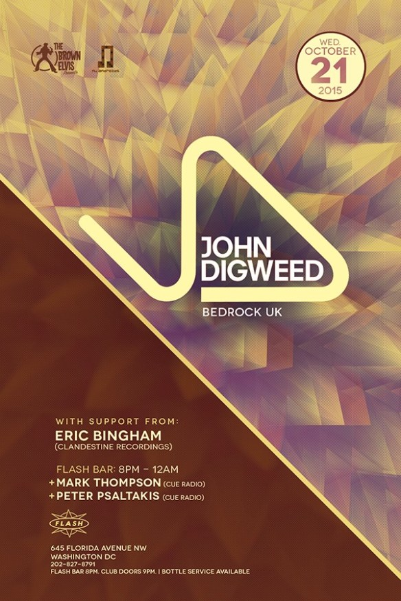 Nu Androids & The Brown Elvis present John Digweed ( Bedrock ) at Flash