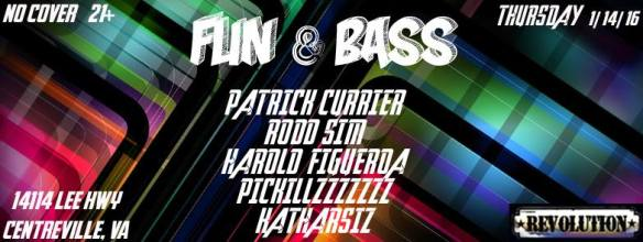 Fun & Bass with Patrick Currier, Rodd Sim, Harold Figueroa and more at Revolution Darts & Billiards, Centreville