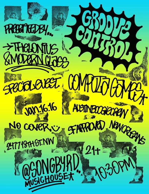 Groove Control Saturday: Featuring Computa Games at Songbird Music House & Record Cafe