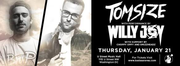 Tom size feat Willy Joy at U Street Music Hall