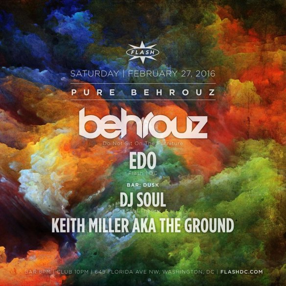 Behrouz and Edo at Flash with Dusk featuring DJ Soul and Keith Miller aka The Ground in the Flash Bar