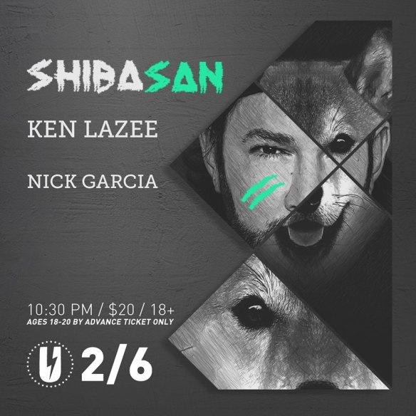 Shiba San with Ken Lazee, Nick Garcia at U Street Music Hall