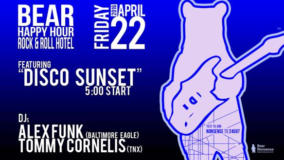 Bear Happy Hour featuring DJs Alex Funk & Tommy Cornelis at Rock'n'Roll Hotel