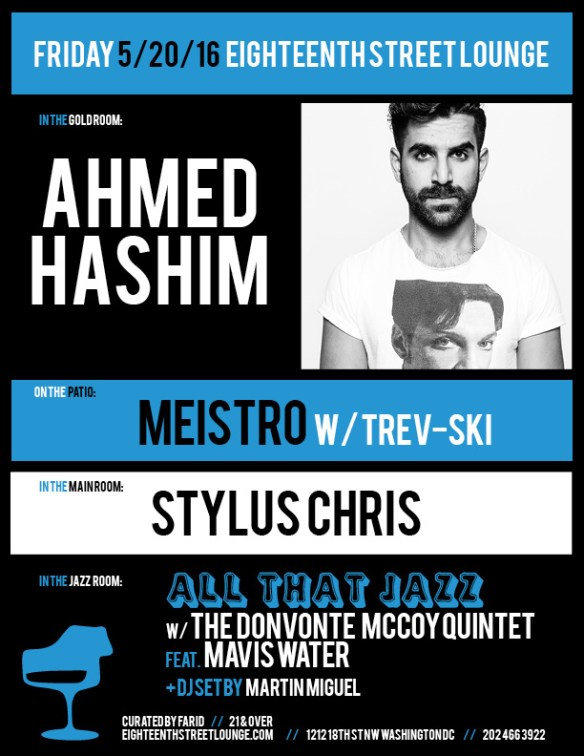 ESL Friday with Ahmed Hashim, Meistro, Trev-Ski Stylus Chris and Martín Miguel at Eighteenth Street Lounge