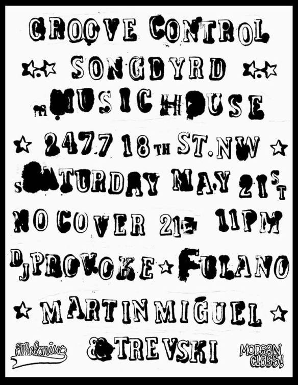 Groove Control Late Night Boogie with Martín Miguel, DJ Provoke, Fulano and Trev-ski at Songbyrd Music House and Record Cafe