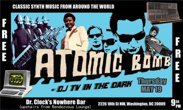 Atomic Bomb - Classic Synth music from around the world at Dr. Clock's Nowhere Bar
