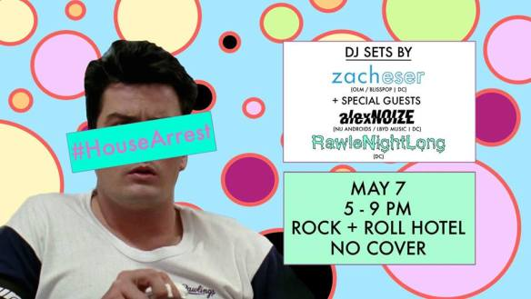 HouseArrest with Zacheser and special guests AlexNOIZE & RawleNightLong at Rock'n'Roll Hotel