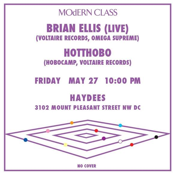 MOdERN CLASS with Brian Ellis (live) & Hotthobo at Haydees Restaurant, Mount Pleasant