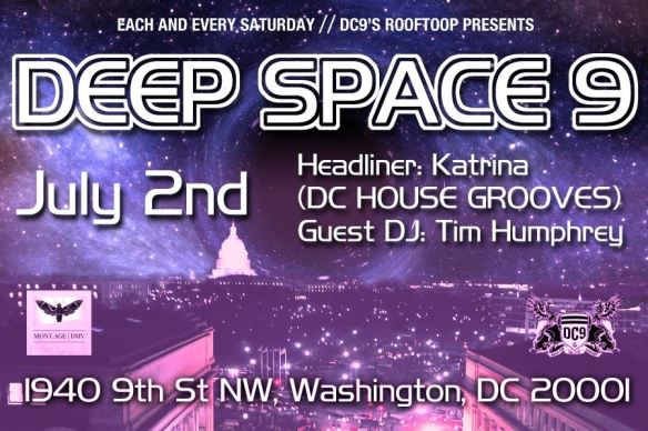Deep Space 9 with Katrina (DC House Grooves) and Tim Humphrey at DC9 Nightclub