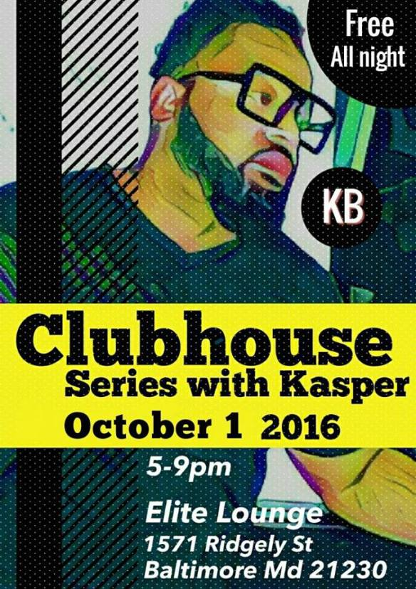 Clubhouse Series with Kasper Bernstein at Elite Lounge, Baltimore