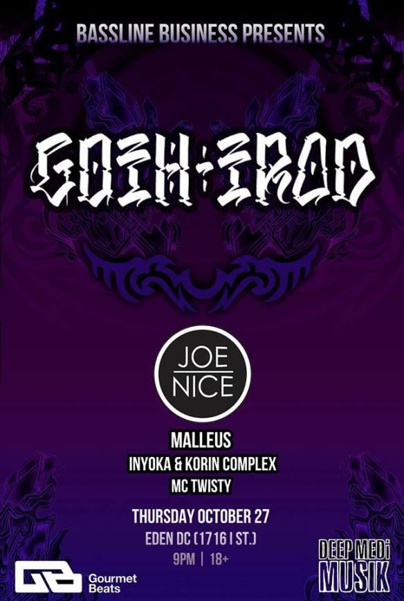 Bassline Business Presents: Goth-Trad, Joe Nice, Malleus, Inyoka & Korin Complex & MC Twisty at Eden Lounge