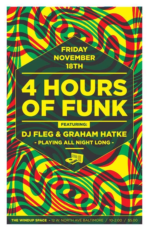 4 Hours of Funk with Graham Hatke & Fleg at The Windup Space, Baltimore