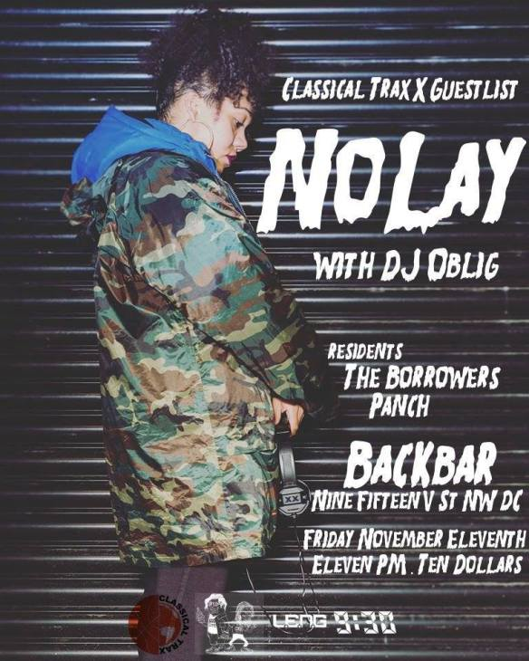 Classical Trax x Guestlist Present: NoLay with DJ Oblig with The Borroweres & Panch at Backbar