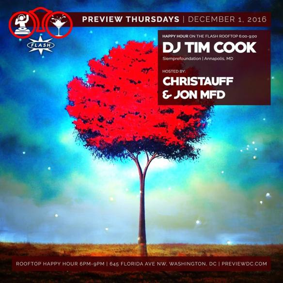Preview Rooftop Happy Hour with DJ Tim Cook at Flash