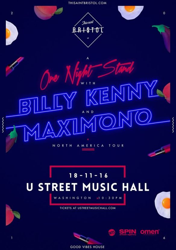Billy Kenny with Maximono, Savage Patch at U Street Music Hall