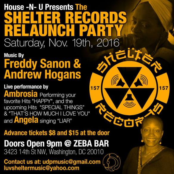 House-N-U Shelter Records Launch Party with Freddy Sanon & Andrew Hogans and Live Performance by Ambrosia at Zeba Bar