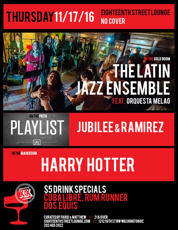 ESL Friday with Harry Hotter and Playlist featuring Jubilee & Ramirez at Eighteenth Street Lounge