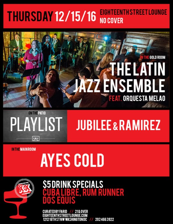 ESL Thursday with Ayes Cold & Playlist featuring Jubilee, Ramirez & Navbox at Eighteenth Street Lounge