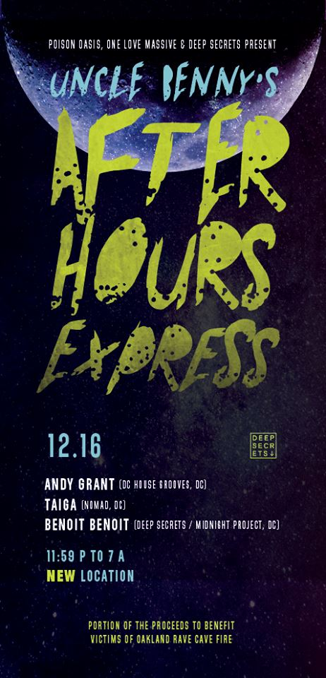 Uncle Benny's Afterhour Express with Andy Grant, Taiga & Benoit Benoit at Secret Location