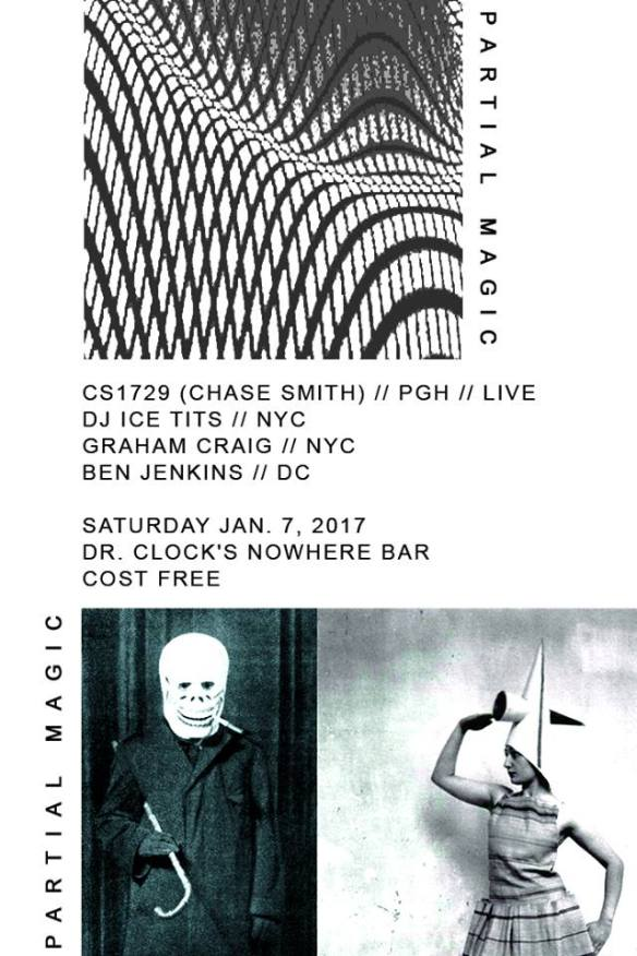 Partial Magic Label Launch Party with CS1729, DJ Ice Tits, Graham Craig & Ben Jenkins at Dr Clock's Nowhere Bar
