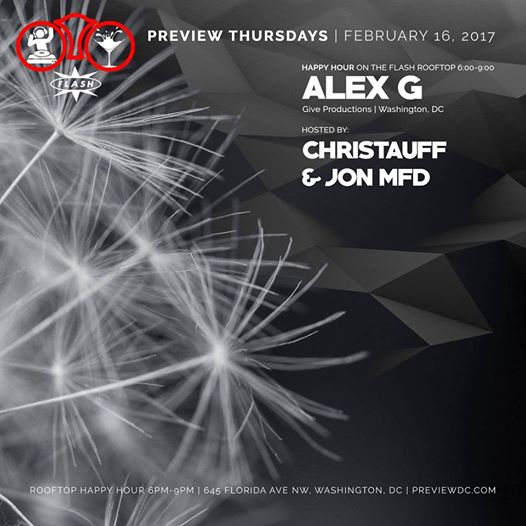Preview Rooftop Happy Hour with Alex G at Flash